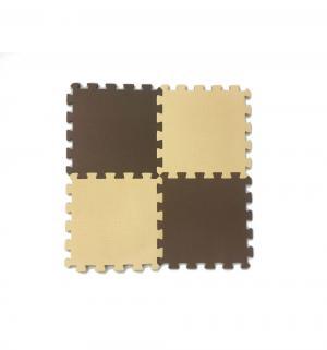 Коврик-пазл  (16 дет.), цвет: бежевый/коричневый 100 х см Eco-cover