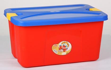 Ящик для игрушек  Секрет, цвет: малиновый М-Пластика