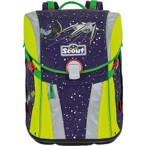 Ранец  Sunny Космос с наполненеием Scout. Цвет: сине-жёлтый