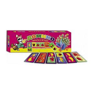 Настольная игра  Домино Фрукты и ягоды Рыжий кот