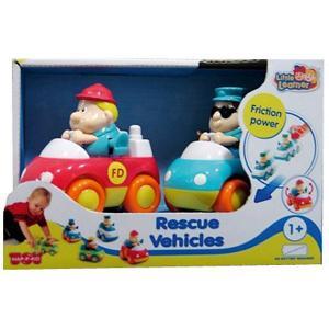 Спасательные машинки  : пожарная+скорая помощь, 2 штуки в упаковке HAP-P-KID