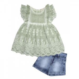 Комплект для девочки туника, шорты 3153 Baby Rose