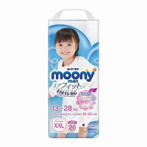 Трусики  XXL для девочек (13-28 кг) 26 шт. Moony