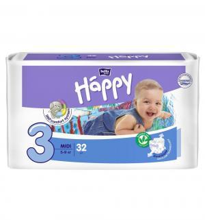 Подгузники  Baby Happy Midi 3 (5-9 кг) 32 шт. Bella