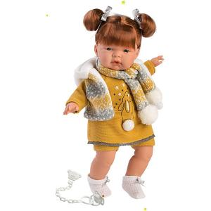 Кукла  Катя, 38 см, со звуком Llorens. Цвет: weiß/beige