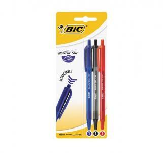 Ручка шариковая автоматическая  Раунд стик клик ( ) (3 шт.) Bic