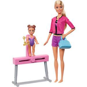 Игровой набор Barbie Спортивная карьера Гимнастика, блондинка Mattel