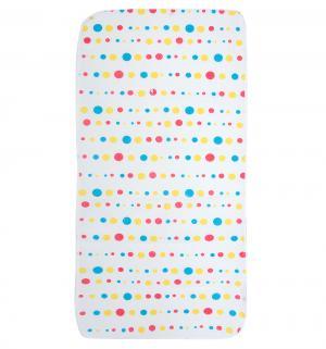 Клеенка , 1 шт, цвет: белый с разноцветными кружочками Бусинка