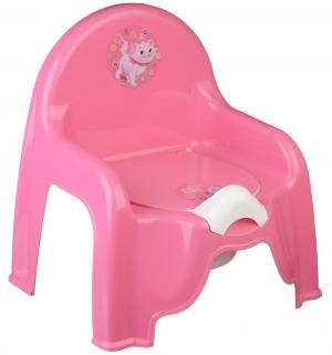 Горшок-стульчик  Кошечка, цвет: розовый М-Пластика