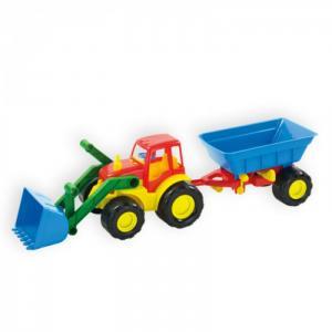 Трактор с ковшом и прицепом Active ZebraToys
