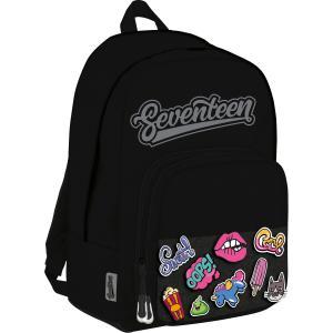 Рюкзак  мягкий с набором патчей Seventeen