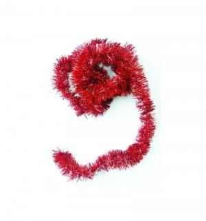 Мишура  красная 5 х 200 см Яркий Праздник