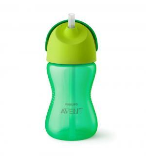 Чашка-поильник  с трубочкой, 12 месяцев, цвет: зеленый Avent