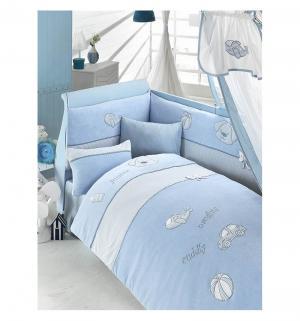 Комплект постельного белья  My Bonny, цвет: голубой 6 предметов Bebe Luvicci