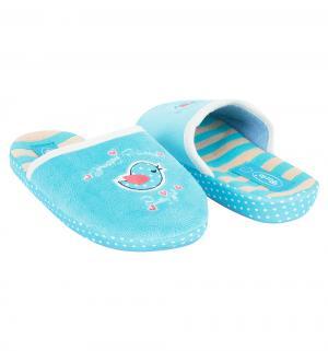 Тапочки , цвет: голубой Forio