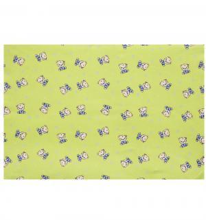 Пеленка Мишки 75 х 110 см, цвет: зеленый Зайка Моя