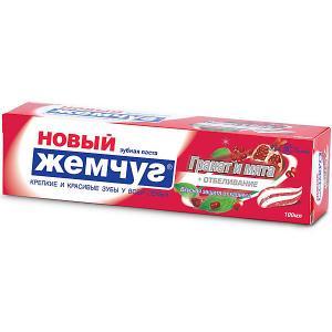 Зубная паста Новый Жемчуг Нежное отбеливание гранат и мята, 100 мл Невская косметика
