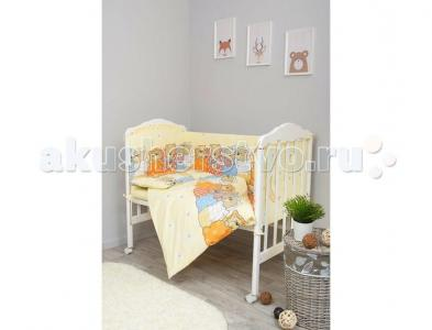 Комплект в кроватку  Лежебоки (7 предметов) Сонный гномик