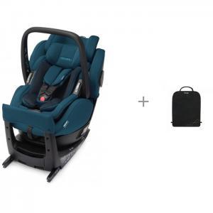Автокресло  Salia Elite Select с защитным ковриком на спинку передних автомобильных сидений Brica Munchkin Recaro