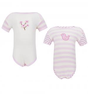 Комплект боди 2 шт , цвет: розовый Hudson Baby