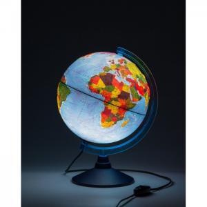 Глобус Земли физико-политический рельефный с подсветкой D-250 мм Globen