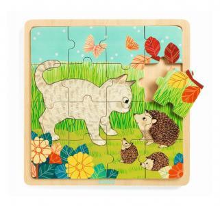 Пазл деревянный  Игра в траве Djeco