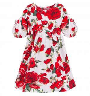 Платье , цвет: белый/красный Damy-M
