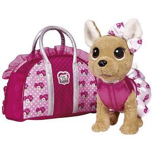 Плюшевая собачка  Chi Love Модная собачка, 20 см Simba. Цвет: розовый