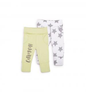 Комплект брюки 2 шт , цвет: зеленый/белый Happy Baby
