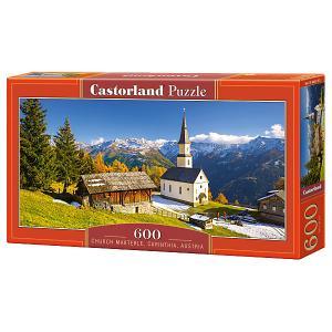 Пазл  Церковь Мартерле, Австрия, 600 деталей Castorland