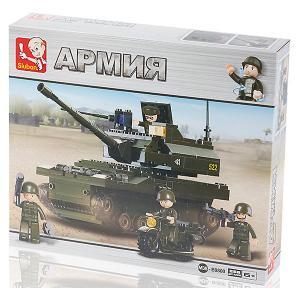 Конструктор  Армия Танк и мотоцикл, 258 деталей Sluban