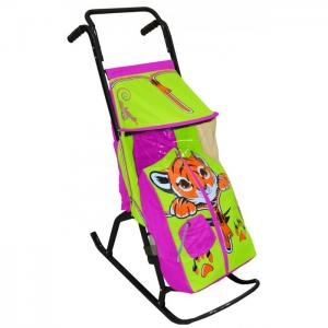 Санки-коляска  Снегурочка 2-Р Тигренок R-Toys