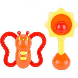 Разивающая игрушка  Набор погремушек желто-красные S+S Toys