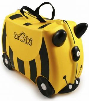 Детский чемодан на колесах Пчела Bernard Trunki