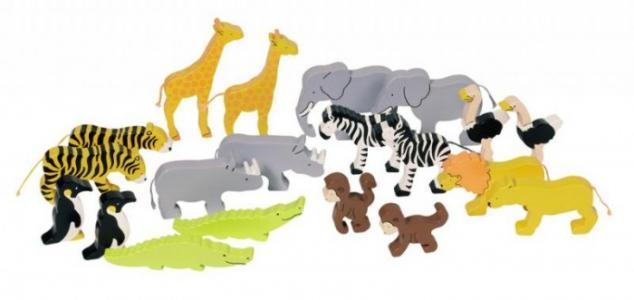 Фигурки Животные ковчега цветные Goki