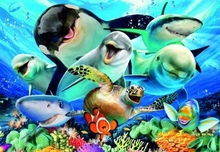 Пазл Подводное селфи (500 деталей) Educa