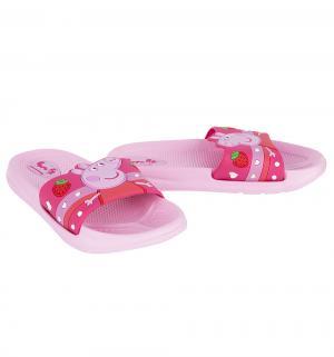 Шлепанцы  Свинка Пеппа, цвет: красный/розовый Kakadu