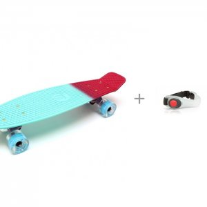 Скейтборд TLS-401ML и Яркий луч Фонарь V-002R Браслет Triumf Active
