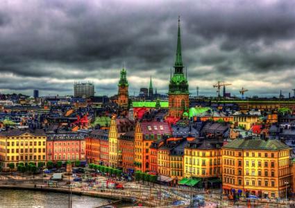 Пазл Вид на Стокгольм, Швеция (1000 деталей) Educa