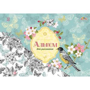 Альбом для рисования Апплика Весенние цветы, 32 листа