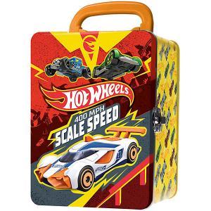 Портативный кейс для хранения Hot Wheels, красно-желтый WHEELS