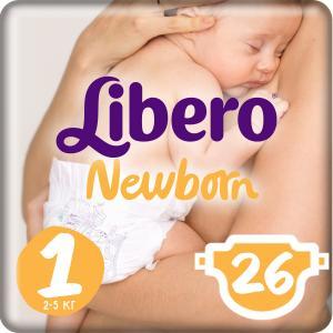 Подгузники  Newborn Size 1 (2-5 кг) 26 шт. Libero