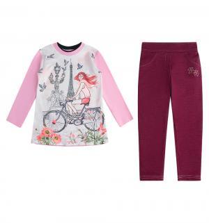 Комплект туника/лосины , цвет: розовый Asilguc