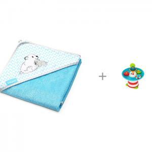 Полотенце бамбуковое 100х100 и Игрушка для ванной Yookidoo Фонтан Утиные гонки BabyOno