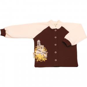Кофточка для девочки Lucky Child. Цвет: коричневый