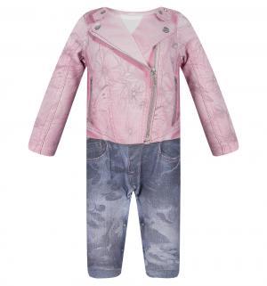 Комбинезон  Fashion Jeans, цвет: розовый/синий Папитто