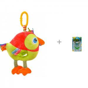 Подвесная игрушка  kids Попугай Музыкальная и Мелкие пакости Лизуны Бабочка 8,5 см Forest