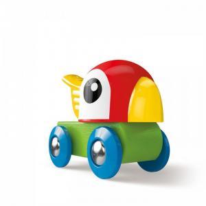 Деревянная игрушка  Каталка Свистящий попугайчик Hape