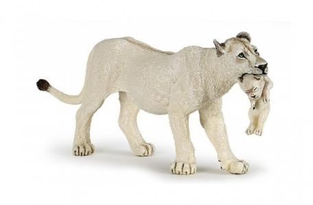 Фигурка Белая львица с детенышем Papo