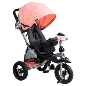 Велосипед-коляска  Stroller trike 10x10 AIR Car, цвет: персик Moby Kids